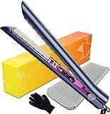 ANGENIL Pro Glätteisen locken und Glätten, Haarglätter Lockenstab 2 in 1, Titan-Glätteisen mit einstellbarer Temperatur 60-230℃, Geringere Statische Aufladung & Seidiger Glanz