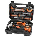 ValueMax Mini Werkzeugset Haushalt 8tlg. Werkzeugsatz mit Aufbewahrungskoffer, für Renovierung und elektrische Reparatur