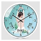 zunruishop Dekorative Wanduhr Schönheitssalon Wanduhr Damen Gesundheitsclub Wanduhr Stummschaltung Nicht-Ticking Wanduhr Wohnzimmer Dekoration Uhr Schlafzimmer Wanduhr 14 Zoll Digitaluhr (Color : D)