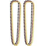 Goldschmidt Deutschland Fanartikel schwarz rot gelb | Fan Accessoires Deko zur EM WM (2X Deutschland Perlenketten)