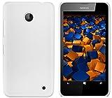 mumbi Hartschale kompatibel mit Nokia Lumia 630 / 635 Handy Hard Case Handyhülle, weiss