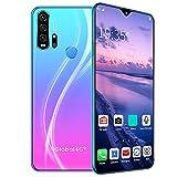 DREAMyun Smartphone ohne Vertrag 6,3 Zoll HD + Display, Octa Core 6GB RAM + 128GB ROM, Android 10, 4500mAh Akku, 21MP + 8MP Dreifachkamera, 4G Dual SIM, NFC, Face ID,Gradient Purple Blue