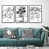 Tankaa Skizzen Frau Blumenstrauß Der Frieden Wandkunst Bilder Wohnzimmer Picasso Linie Kunst Zeichnung Leinwand Kunstdrucke Poster Wohnkultur Malerei. 20x30cm NoFramed