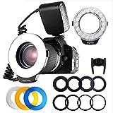 HAOXUAN LED-Ringblitz, Makro-Ringblitz Mit 48 Lichtern, LCD-Display, Kamerabeleuchtung, Geeignet Für Nikon/Canon/Olympus/Panasonic / 750D 760D T6i T6s 7D T2i T3i T4i T5 550D 600D 650D 700D