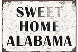 Pozino Sweet Home Alabama Blechschild, geprägt, Metall