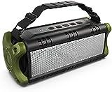 Bluetooth Lautsprecher Wasserdicht, 24 Stunden Laufzeit, 8000mAh Power Bank, 30 Meter Reichweite, Tragbare Bluetooth Speaker Box Lautsprecher Musikbox mit TWS/NFC (Grün)