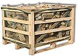 3 x'Mariensteiner Hoiz Kistl' Brennholz Buche 25cm Scheitlänge trocken Kaminholz Scheitholz ofenfertig Feuerholz Lagerfeuer Pizzaofen Ofen Holz 2,4m³/SRM=3 Holzboxen (3)