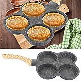 Eierpfanne Omelettpfanne Braten 4-Loch-Omelettpfanne Antihaft-Bratpfannen Frühstück Pfannkuchenhersteller für Induktionsherd Gasherd
