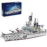HYMAN Zerstörer Schlachtschiff Bausteine Bausatz, 1716 Teile Marine Kriegsschiff Modellbausatz für Kinder und Erwachsene, Kompatibel mit Lego