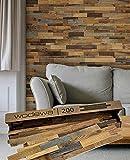 wodewa Designpaneel Wandverkleidung Holz Altholz Kiefer 3D Wandpaneele 0,96m² Holzwandverkleidung Innen Holzverkleidung Holzwand Wohnzimmer Schlafzimmer