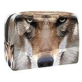 Kosmetiktasche Reise Wolf Make-Up Taschen wasserdichte Organizer Multifunktions Fall mit Reißverschluss Kulturbeutel für Frauen 18.5x7.5x13cm