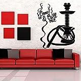 Shisha Bar Wandtattoo, Shisha Art Sticker, Bar Dekoration Aufkleber Wandaufkleber 42X50cm