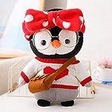 SDSG Pinguinpuppe Mit Brille Weiche Geschenke Für Kinder 30Cm Rot
