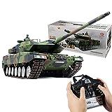 Deutscher Leopard 2A6 Kampfpanzer mit Sound Smoke Effekt, RC Panzer 1:16, Panzer Ferngesteuert Metall, RC Panzer Metall Panzer RC