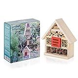 Möge | Insektenhotel aus Naturholz | Aufhängbares Insektenhaus für Bienen, Marienkäfer, Florfliegen & Schmetterlinge | Nisthilfe für Balkon & Garten | Größe:19 * 7 * 22CM