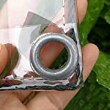 SJQ Plane wasserdichte schwere, wasserdichte PVC-transparente Plane mit Ösen für Campingbodenabdeckung (0,3 mm / 400 g / m2) (Farbe: 0,3 mm, Größe: 1,4 x 3 m)