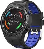 JSL Smart Watch 1.3 Full Touch Screen IP68 Wasserdicht Bluetooth Fitness Tracker GPS Laufuhr Aktivitätstracker Schrittzähler mit Herzfrequenz Schlaf-Tracking für Männer Frauen Blau Rot Blau