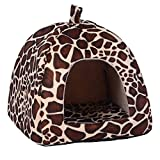 Zuoox Warme Winter-Katzenbetten, Haustierschlafsack, Tierschlafhöhle, Hundebett, Katzenbett, Erdbeere, Haustierbett, Hundehü