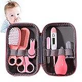 8-teiliges Baby-Pflege-Set, tragbar, Baby-Pflege-Set, inklusive Haarbürste, Kamm, Nagelknipser, Baby-Thermometer für Kindergarten Neugeborene Säuglinge Mädchen Jungen