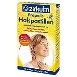 Zirkulin Propolis Halspastillen, zuckerfreie Lutschpastillen gegen leichte Halsschmerzen und Kratzen im Hals, entzündungshemmende Bienenharz Pastillen, Arzneimittel (1 x 30 Pastillen)