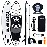 TIGERXBANG SUP Board Stand Up Paddling Board   10'6' 320x80x15cm   Kayak Seat  Komplettes aufblasbares Paddle Zubehör