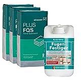 HOTREGA Fugen Festiger 5 Liter + 3x Quarzsand 10 kg - Gebrauchsfertige lösungsmittelfreie Kunststoffdispersion auf Acrylatb