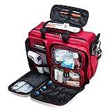 JTYX Kompaktes Erste-Hilfe-Set Notfall-Überlebenstrauma-Kit Mit Beschrifteten Fächern, Wasserdichtes Notfall-Rettungsset Für Den Außenb
