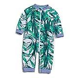 Soui Säuglingsjunge EIN stück UV-Schutz 50+ Badeanzug MIT Einem Reißverschluss (Grüne-Die Blätter, 12-18)
