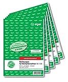 Sigel SD130 Rechnungen für Kleinunternehmer A5, 2x30 Blatt, selbstdurchschreibend, 5 Stück