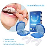Zahnschutz-Kit, Mundschutz Verhindern effektiv Zähneknirschen, Verbessert Schnarch Schiene und Atmungshilfe, Schützt Zähne, Zahnfleisch & Kiefer