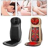 Massagematte, Massagesitzauflage mit Wärme, Shiatsu-Massageauflage Rückenmassagegerät für Stühle, Massagematte zur Linderung von Rückenschmerzen Frauen, Männer Beige