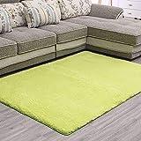 LNGVBF super weicher Plüschteppich, Flauschiger Teppich, schöner Flauschiger Schlafzimmerteppich, geeignet für Heimdekoration, Kindergartenteppich, Fußmatte, Sofakissen (Grün, 80x160cm)