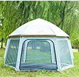 weichuang Außenzelt 6 Personen Zelt Backpacking Zelte Hexagon wasserdichte Haube automatische Pop-Up Outdoor Sports Camping-Zelt Sun Heime Zelt