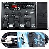 NUX MFX-10 Multi-Effektgerät mit Looper und Drumcomputer + keepdrum Gitarrenkabel 3m