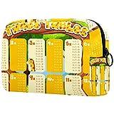 Kleine Kulturtasche Kosmetiktasche Schminktäschchen Make-Up Bag Kulturbeutel mit stylischen Print-Motiven für die Handtasche, Reisen und Urlaub Einmaleins Giraffen