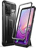 SUPCASE Outdoor Hülle für Samsung Galaxy S20 Ultra Handyhülle Bumper Case Rugged Schutzhülle Cover [Unicorn Beetle Pro] 6.9 Zoll OHNE Displayschutz mit Gürtelclip und Ständer 2020 Ausgabe, Schwarz
