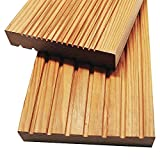 Home Deluxe - Holz Terrassendiele Sibirische Lärche - Inkl. Unterkonstruktion und Montagematerial | Terrassenboden Poolumrandung Balkonbelag (10 m²)