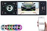 Creasono Autoradio 1DIN: MP3-Autoradio mit TFT-Farbdisplay, Bluetooth, Freisprecher, 4X 45 Watt (Autoradio DIN 1)