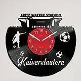Gravinci Kaiserslautern Fan Schallplatten-Wanduhr