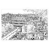 Tapete selbstklebend - Stadtstudie - Rom - Fototapete Querformat 225 x 336 cm