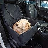 Hunde Autositz für kleine und mittelgroße Hunde + extra Sicherheitsgurt schnell verstaubar + wasserabweisend   Autositz Hund bis mittlere Hunde   Hundetransportbox, Hundesitz im Auto   Hundebox