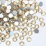 WEILAI Goldener Schatten-Glaskristall, nicht Hotfix-Strasssteine, nicht fixiert, Goldfarben, Champagnerfarben