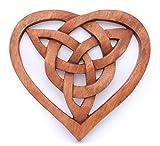 Windalf Handarbeit Celtic Irisches Holzbild Fiona 20.5 cm Keltisches Herz Pagan Wandornament Holz