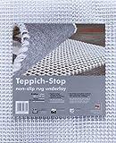 andiamo Teppich-Stop Antirutschmatte Teppichgleitschutz Teppichunterlage Haftgitter Rutschschutz, PVC beschichtetes Polyester, rutschhemmend zuschneidbar pflegeleicht strapazierfähig, weiß,60x120