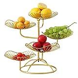 LOPADE Obstteller Wohnzimmer Haushalt Obstteller Fünfschichtiges Lotusblatt Aufbewahrungstablett Waschbar Obst Ablagekorb Esstisch Deko Graceful