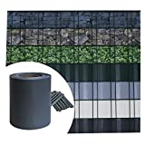 Sichtschutz PVC - Anthrazit RAL 7016 - 70m (14m²) - Doppelstabmatten Zaunfolie Windschutz blickdicht Windschutz