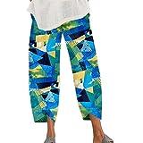 FrüHling Und Sommer Damenhose JäHrlicher Ringdruck Mode Stretch Loose Pocket Casual Pants