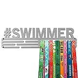 United Medals Swimmer Medaille Kleiderbügel | Edelstahl Medaillenhalter | 43cm / 48 Medaillen