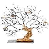 Baum des Lebens Skulptur Wunderschöner, handgefertigter, dekorativer rustikaler Kerzenhalter – ein spiritueller Mittelpunkt für Ihre Zen-Dekoration