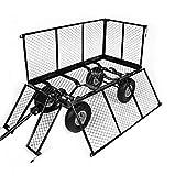 BJYX Bollerwagen Gartenwagen Handwagen mit Innenverkleidung herausnehmbare Plane mit